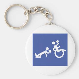 wheelchair boozer keychain