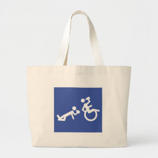 wheelchair boozer large tote bag