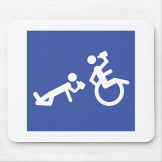 wheelchair boozer mouse pad