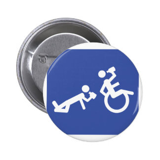 wheelchair boozer pinback button