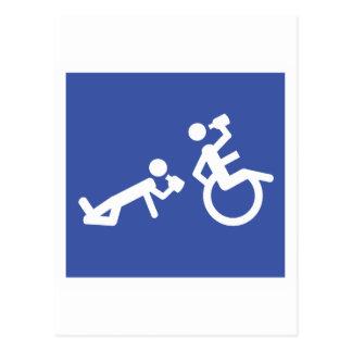 wheelchair boozer postcard