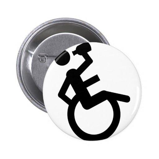 wheelchair boozer wheel chair 2 inch round button