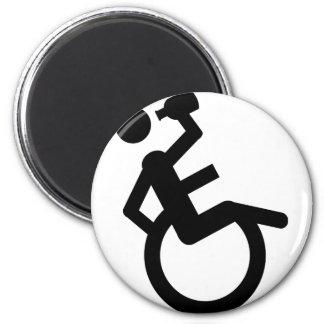 wheelchair boozer wheel chair 2 inch round magnet