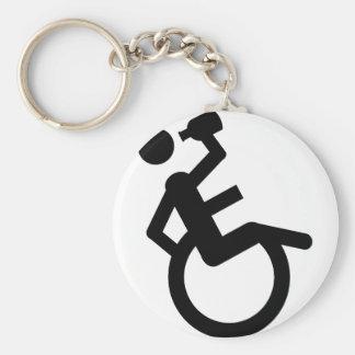 wheelchair boozer wheel chair basic round button keychain