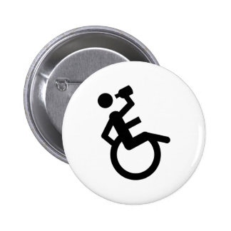 wheelchair boozer wheel chair pinback button
