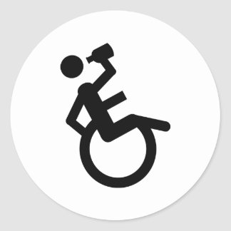 wheelchair boozer wheel chair classic round sticker