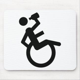 wheelchair boozer wheel chair mouse pad