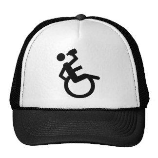 wheelchair boozer wheel chair trucker hat