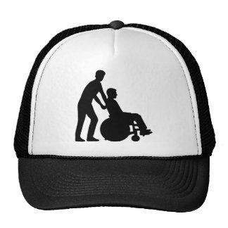 Wheelchair carer hat