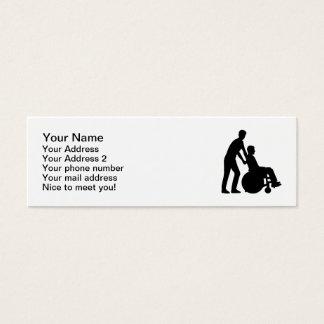 Wheelchair carer mini business card