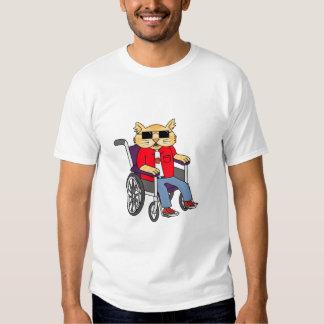Wheelchair Cat T-shirt