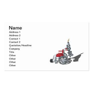 Wheelchair Checkered Flag Business Card