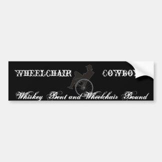 wheelchair cowboy bumper sticker