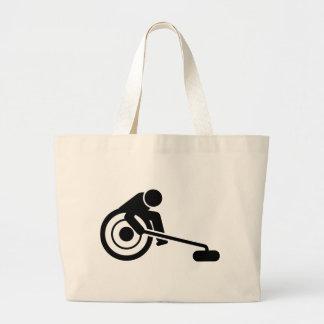 Wheelchair Curling Tote Bags