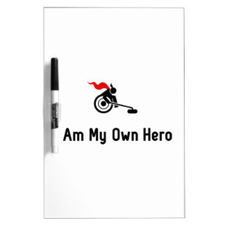 Wheelchair Curling Hero Dry-Erase Board
