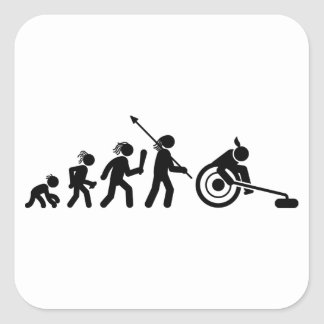Wheelchair Curling Square Sticker