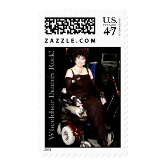 WHEELCHAIR DANCERS ROCK POSTAGE STAMP