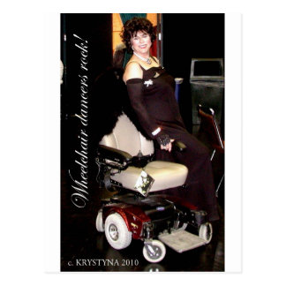 WHEELCHAIR DANCING POSTCARD