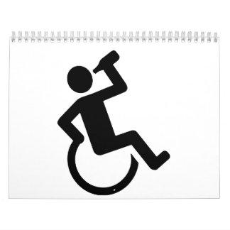 Wheelchair drinking wall calendar