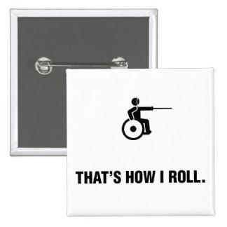 Wheelchair Fencing Pinback Button