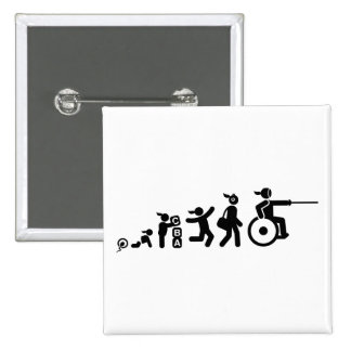 Wheelchair Fencing Pinback Buttons