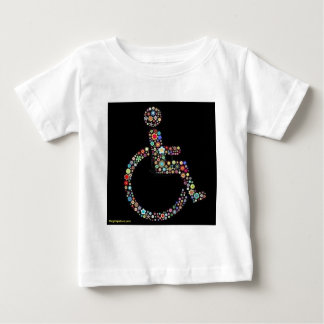 wheelchair_funky_zazzle.jpeg baby T-Shirt