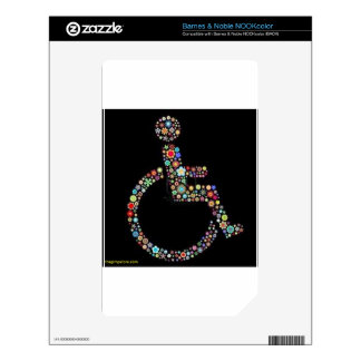 wheelchair_funky_zazzle.jpeg skin for NOOK color
