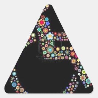 wheelchair_funky_zazzle.jpeg triangle sticker