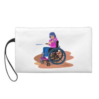 Wheelchair Girl Ball png Wristlet Clutch