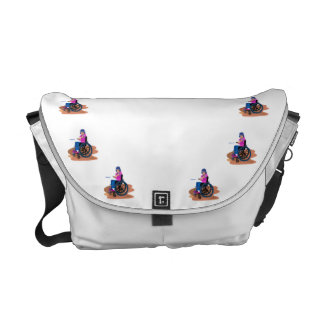 Wheelchair Girl Ball png Courier Bag
