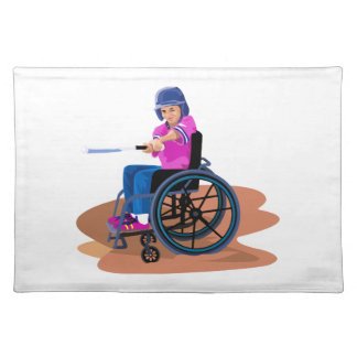 Wheelchair Girl Ball.png Placemat