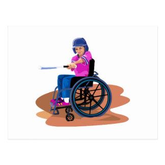 Wheelchair Girl Ball.png Postcard