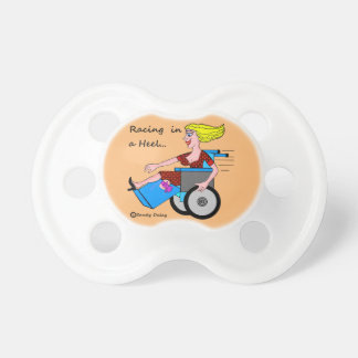 Wheelchair Girl in Heel Amputee Baby Momma Pacifier