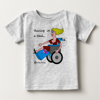 Wheelchair Girl in Heel Amputee Baby T-Shirt