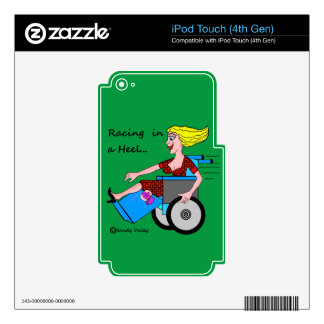 Wheelchair Girl in Heel Amputee Decals For iPod Touch 4G