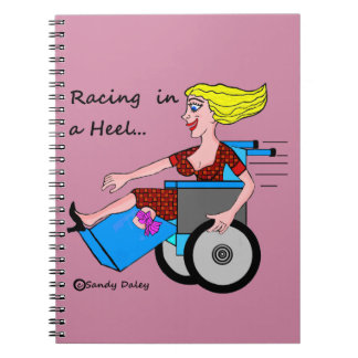 Wheelchair Girl in Heel Amputee School Days Spiral Notebook