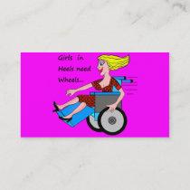 Wheelchair Girl in Heels Business Card
