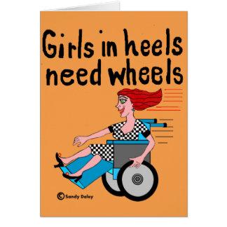 Wheelchair Girl in Heels Card