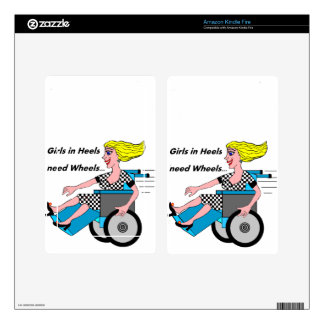 Wheelchair Girl in Heels Decal For Kindle Fire