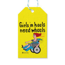 Wheelchair Girl in Heels Gift Tags