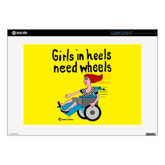 Wheelchair Girl in Heels Laptop Decals