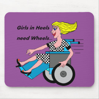 Wheelchair Girl in Heels Mouse Pad