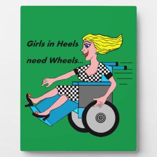 Wheelchair Girl in Heels Plaque