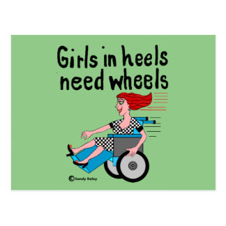 Wheelchair Girl in Heels Postcard