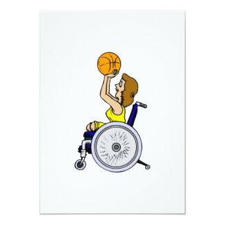 Wheelchair girl shooting card