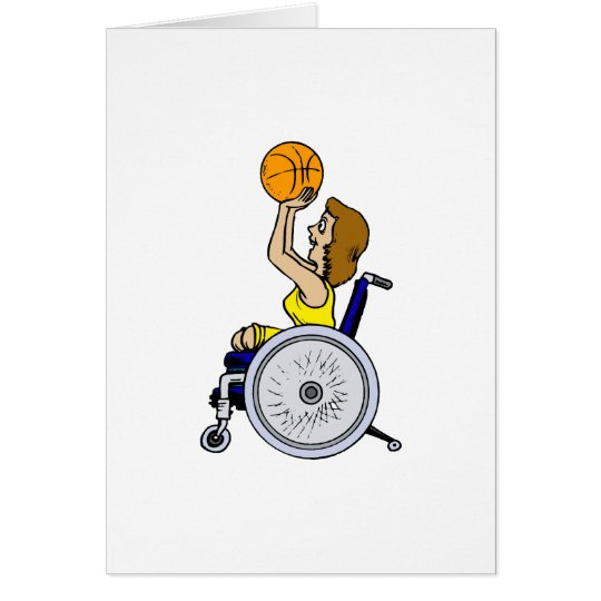 Wheelchair girl shooting card