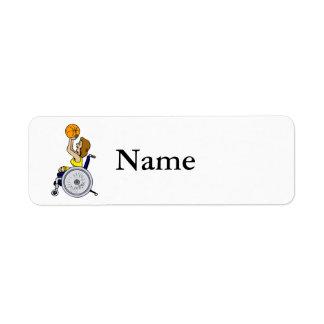 Wheelchair girl shooting label