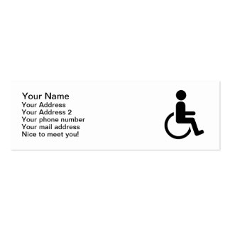 Wheelchair handicaped icon business card template