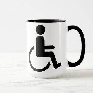Wheelchair handicaped icon mug