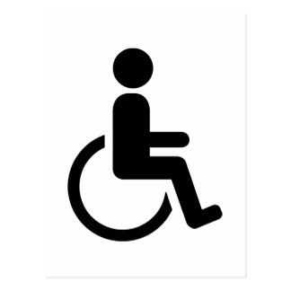 Wheelchair handicaped icon postcard